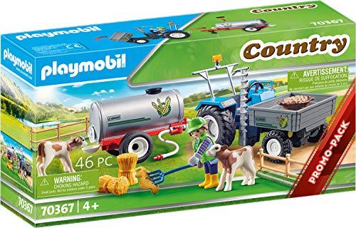 PLAYMOBIL Country 70367 Ladetraktor mit Wassertank, Ab 4 Jahren