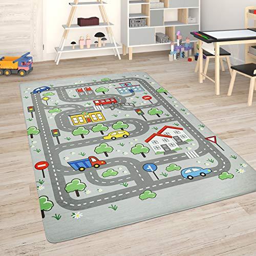 Paco Home Kinderteppich Teppich Kinderzimmer Spielmatte Straßenteppich Spielteppich, Grösse:80x150 cm,...