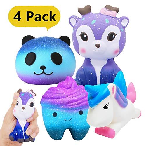 Yetech 4 Stück Squishy Spielzeug, Squisies Set Kawaii Party Geschenke langsame Rising Toys...