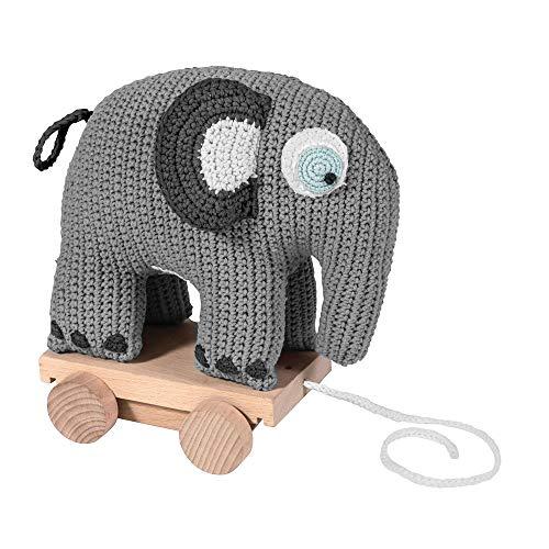 Sebra Häkel-Nachziehtier, Fanto der Elefant, Classic Grey