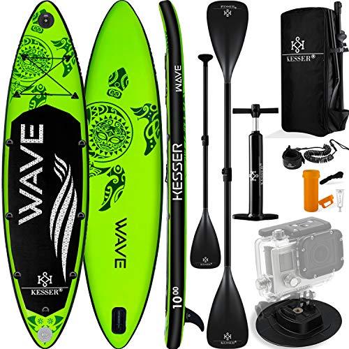 KESSER® Aufblasbare SUP Board Set Stand Up Paddle Board | 366x77x15cm 12.0' | Supboard Premium Surfboard...