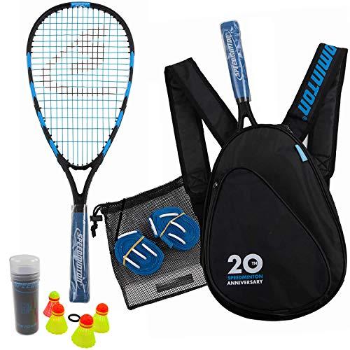 Speedminton Jubiläumsset (S800) Limitiertes Speed Badminton/Crossminton Allround Set inkl. 4 Speeder®,...