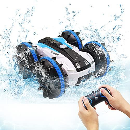 Spielzeug für 5-10 Jahre alte Jungen Amphibien RC Auto für Kinder 2,4GHz Fernbedienung 360 °Drehung...