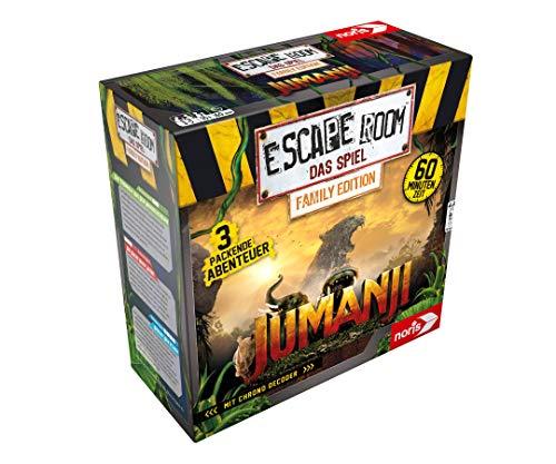 Noris - Escape Room Jumanji (Family Edition) - Familien und Gesellschaftsspiel für Erwachsene und...