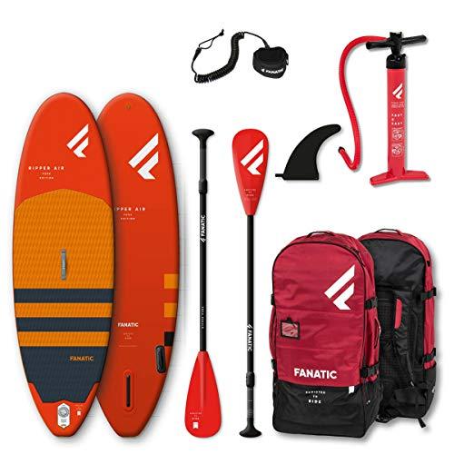 Fanatic Ripper Air 7';10'Aufblasbares SUP Stand Up Paddle Boarding Paket - Board, Tasche, Pumpe & Paddel...