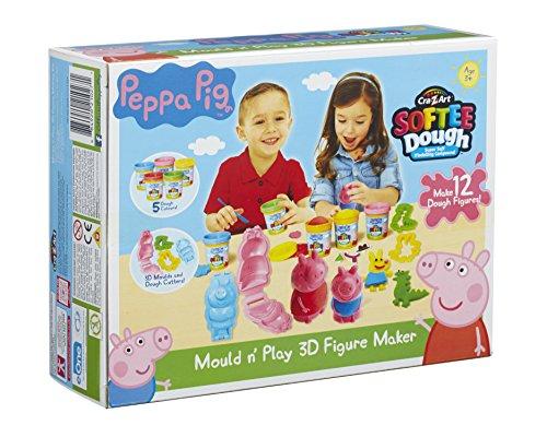 Peppa Pig 21027 Peppa Wutz Knete, Formen und Spielen, 3D-Figuren herstellen, Mehrfarbig, Multi