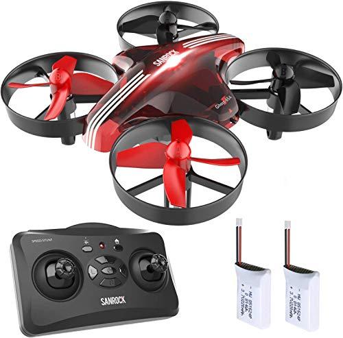 SANROCK GD65A Mini Drohne für Kinder und Anfänger, RC Drone Quadrocopter mit Höhe-halten,...