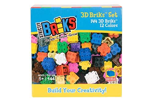 Strictly Briks Classic Briks - 3D-Bausteine-Set für kreatives Spielen - 100 % kompatibel mit Allen...