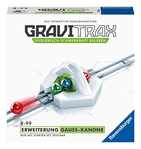 Ravensburger GraviTrax Erweiterung Gauß-Kanone - Ideales Zubehör für spektakuläre Kugelbahnen,...