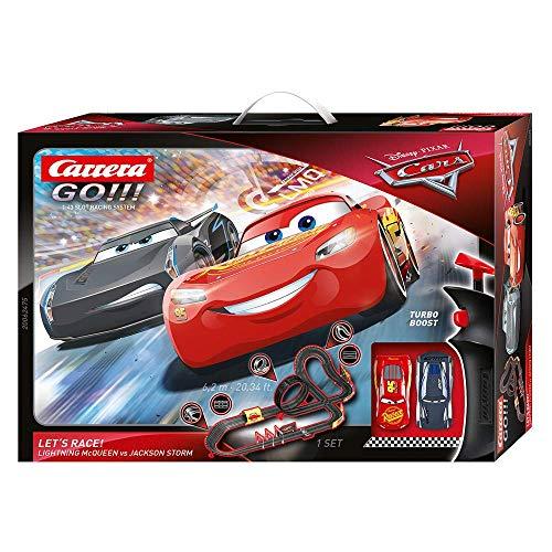 Carrera GO!!! Disney Pixar Cars Let's Race Rennstrecken-Set | 6,2m elektrische Carrerabahn mit Lightning...