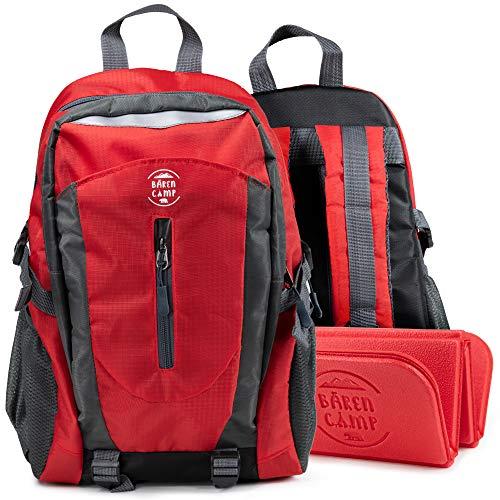 BÄREN CAMP Wanderrucksack Kinder mit Outdoor Sitzkissen 12L [Rückenschutz-Technologie] | Kinderrucksack...