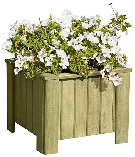 Gartenpirat Pflanzkasten Blumenkasten aus Holz viereckig quadratisch 40x40x40 cm
