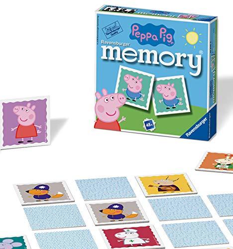 Ravensburger Peppa Pig Mini-Memory, für Kinder ab 3 Jahren, klassisches Bilder-Schnapp-Spiel für...