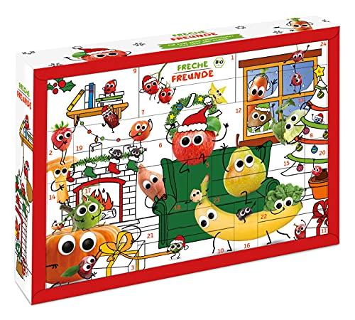 Freche Freunde Bio Adventskalender für Kids, Weihnachtskalender, enthält 24 Bio Kinder-Snacks und...