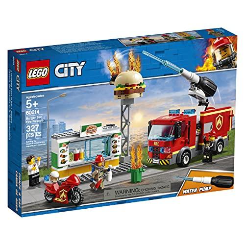 LEGO 60214 City Feuerwehreinsatz im Burger-Restaurant, Bauset mit Lastwagen und Motorrad,...