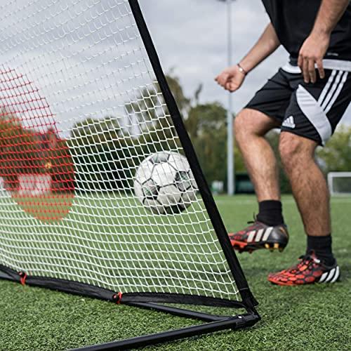QUICKPLAY Spot Ziel Fußball Rebounder - Jetzt mit kostenloser eCOACH Trainings App (8x5' / 2.4x1.5M)