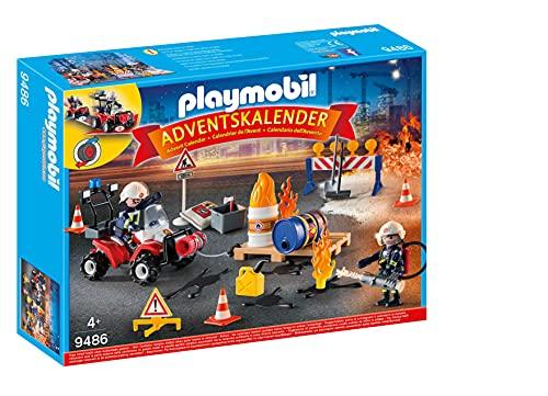 Playmobil - Adventskalender Feuerwehreinsatz auf der Baustelle
