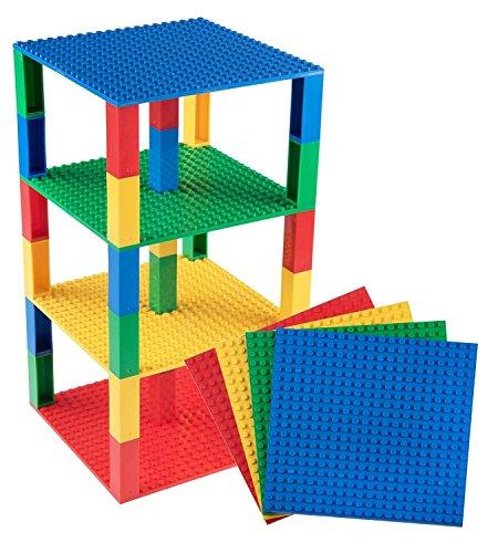 Stapelbare Premium-Bauplatten - inkl. 30 neuen 2x2-Bausteinen - kompatibel mit allen großen Marken -...
