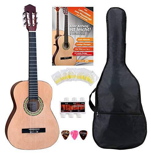 Classic Cantabile AS-861 Konzertgitarre 3/4 Starter-SET (akustische Klassikgitarre, geeignet für Kinder...