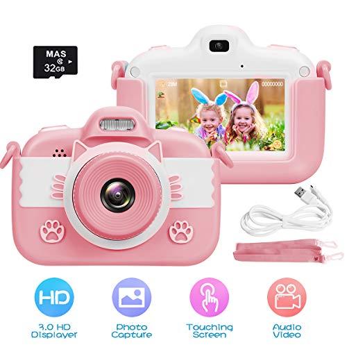 slopehill Kinder Kamera, Digitalkamera Hochauflösende Video Intelligenter 3 Zoll IPS Touchscreen / 1080P...