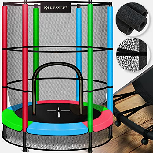 KESSER® Trampolin Kindertrampolin Indoor-Trampolin, Ø 140 cm , mit verschließbares Sicherheitsnetz,...