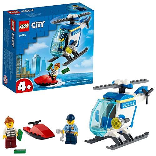 LEGO 60275 City Polizeihubschrauber Spielzeug mit Polizisten und Gauner Minifiguren für Jungen und...