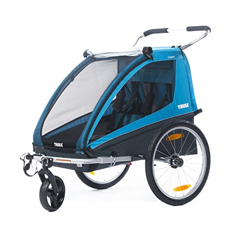 Thule 0872299042678 Coaster XT Kinder Fahrradanhänger 2017, blau