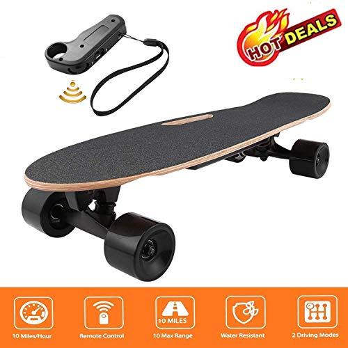 fiugsed Elektrisches Skateboard - 27,5 Zoll Longboard Skateboard mit Funkfernbedienung auf Vier...