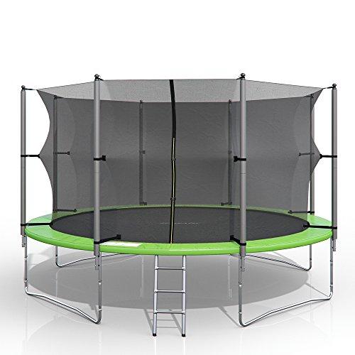 Oskar XXL Trampolin Gartentrampolin Komplettset mit Netz innenliegend + Leiter (366 cm)