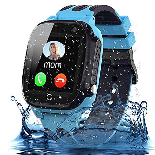 Smooce Smartwatch Kinder Telefon, wasserdichte Smartwatch für Kinder mit LBS Tracker SOS Voice Chat und...