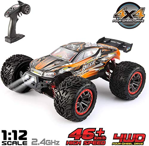 VATOS Ferngesteuertes Auto 1:12 Elektro RC Auto RTR RC Off-Road Buggy 46km/h High Speed 4WD 2,4 Ghz...