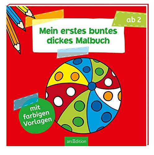 Mein erstes buntes dickes Malbuch (Malbuch ab 2 Jahren): Mit farbigen Vorlagen