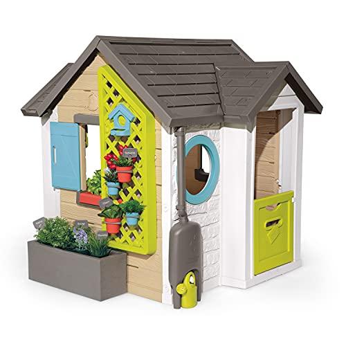 Smoby 810405 - Gartenhaus - Spielhaus für drinnen und draußen, mit kleiner Eingangstür und Fenstern,...