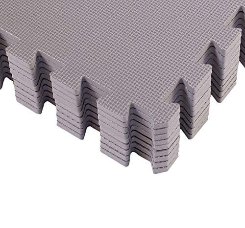 BodenMax Schutzmatten mit Randstücken 30x30cm, 1cm für Boden |Fitness | Unterlegmatten | Fitnessmatten...