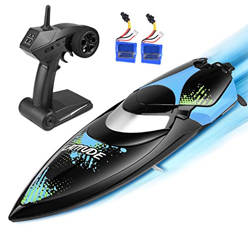 kuman Ferngesteuerte Boote,Upgrade Waterproof Remote Control Boat for Pools and Lakes 25km/h High Speed...