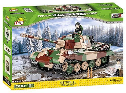 COBI 2540 PzKpfw VI AUSF. Königstiger Bausteine, grün, braun, beige