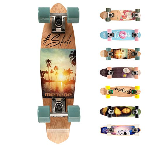 Holz Skateboard Kinder - Mini Cruiser Kickboard - Skateboard mädchen Rollen Board - hohe Qualität Old...