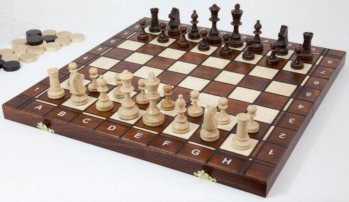 Albatros Holz-Schachspiel + Backgammon MATADOR