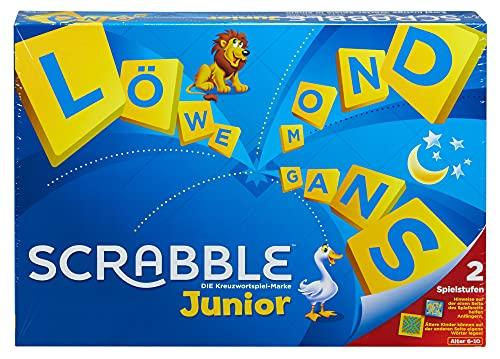 Mattel Games Y9670 - Scrabble Junior Wörterspiel und Kinderspiel, Kinderspiele Brettspiele geeignet für...