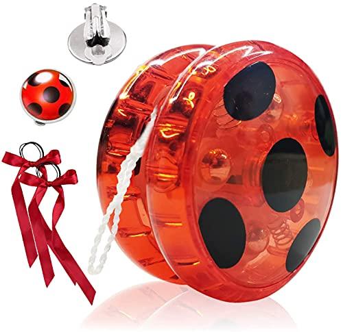 Hook Ladybug Yo-Yo für Ladybug Kostüm Kinder, Jo-Jo mit Blinklicht für Party, Karneval, Halloween,...