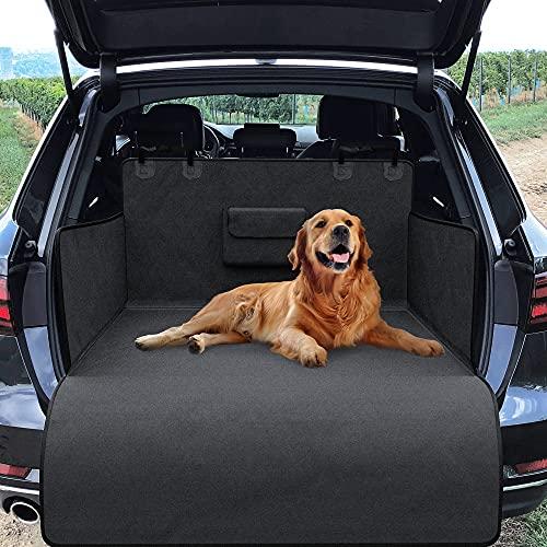 Universal Kofferraumschutz für Hund mit Ladekantenschutz, Napf, Beutel & Tasche | Auto Hundedecke -...