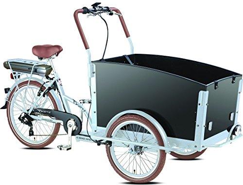 Elektro - Transportrad Voozer silber- schwarz + gratis Winterset, Fahrfertig montiert