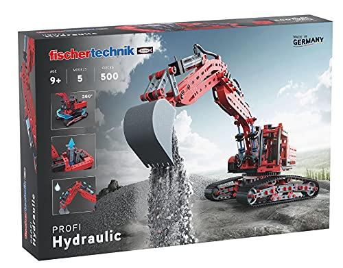 fischertechnik 548888 Hydraulik Spielzeug Bagger für Kinder mit realitätsnaher Hydraulik-Funktion und...