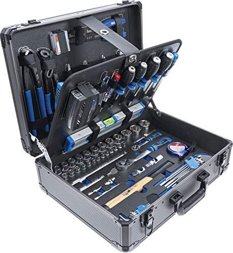 BGS 15501 | Werkzeugkoffer | 149-tlg. | Profi-Werkzeug | Alu-Koffer | gefüllt | abschließbar |...