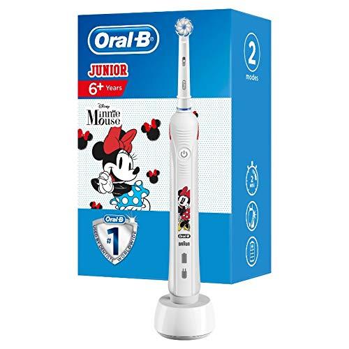 Oral-B Junior Minnie Mouse Elektrische Zahnbürste für Kinder ab 6 Jahren, weiche Borsten & visuelle...