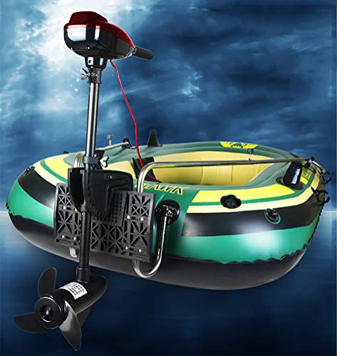 Inflatable boat with outboard motor + transom + paddle, pump set for 2 people complete set