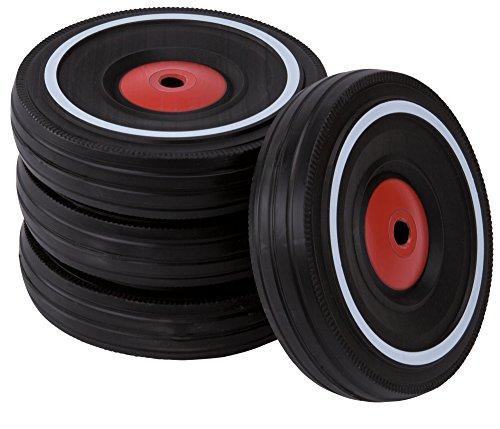 BIG - Bobby Car Whisper Wheels - Flüsterräder für Rutscher Autos, Reifen-Set mit Befestigungsclips und...