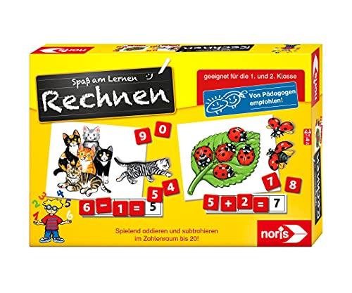Noris 606076341 Spaß am Rechnen, Kinder Lernspiel zum Rechnen lernen, Zahlen, Bildlesekarten und...