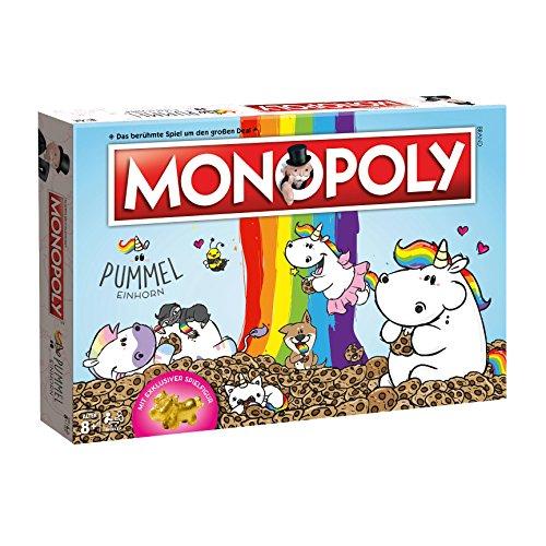 Monopoly Pummeleinhorn Collector's Edition Brettspiel | mit goldener Figur | Einhorn Spiel | Deutsch NEU...