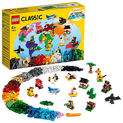 LEGO 11015 Classic Einmal um die Welt Steine, Spielzeug für Kleinkinder ab 4 Jahre mit Bausteinen und...
